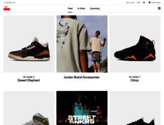 snkrs.com screenshot