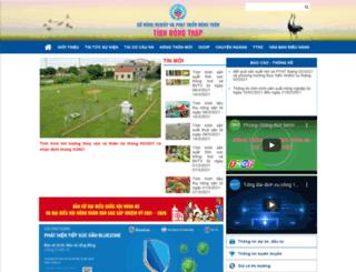 snnptnt.dongthap.gov.vn screenshot