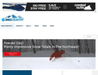 snocountry.org screenshot