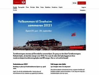 snoheim.dnt.no screenshot