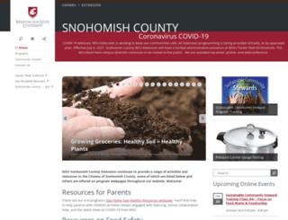 snohomish.wsu.edu screenshot