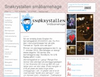snokrystallen.barnehageside.no screenshot