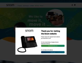 snom.co.uk screenshot