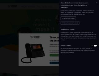 snom.com screenshot