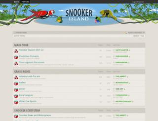 snookerisland.com screenshot