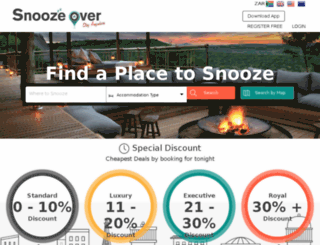snoozeover.co.za screenshot