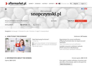 snopczynski.pl screenshot