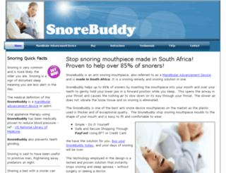 snorebuddy.co.za screenshot