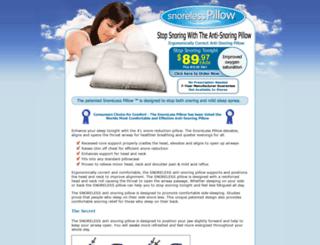 snorelesspillow.com screenshot