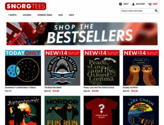 snorgtees.com screenshot