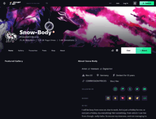 snow-body.deviantart.com screenshot