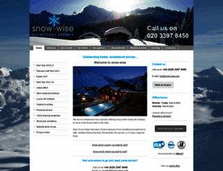snow-wise.com screenshot