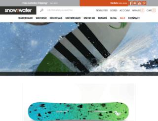 snow2water.com.au screenshot