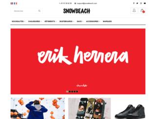 snowbeach.com screenshot