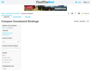 snowboard-bindings.findthebest.com screenshot