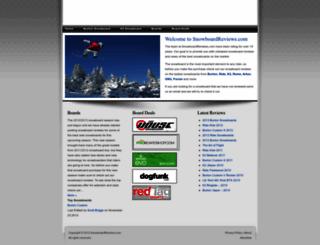 snowboardreviews.com screenshot