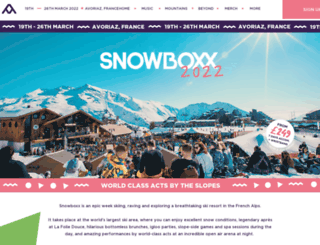snowboxx.com screenshot