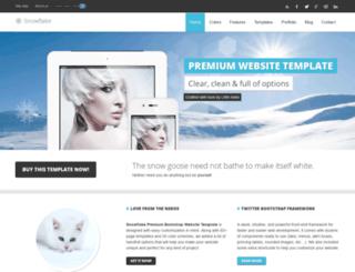 snowflake-premium-website-template.little-neko.com screenshot