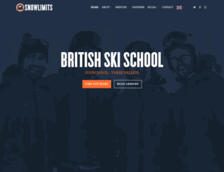 snowlimitsskischool.com screenshot