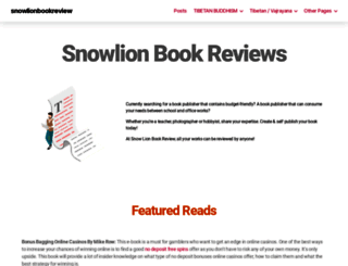 snowlionpub.com screenshot