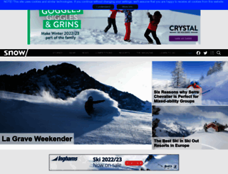 snowmagazine.com screenshot