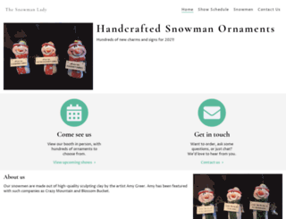 snowmanlady.com screenshot