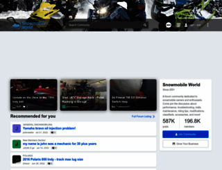 snowmobileworld.com screenshot