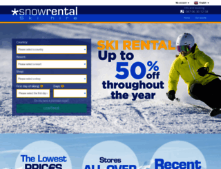 snowrental.co.uk screenshot