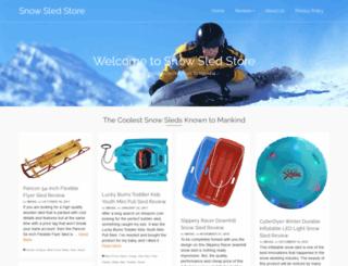 snowsledstore.com screenshot
