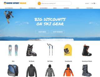 snowsportdeals.com screenshot