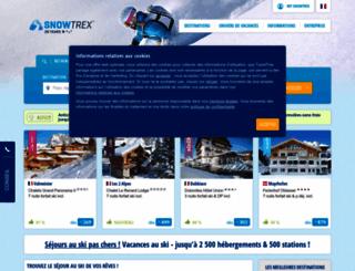 snowtrex.fr screenshot