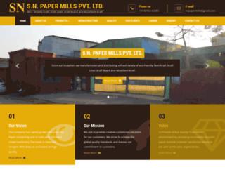snpapermills.com screenshot