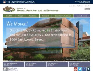 snr.arizona.edu screenshot
