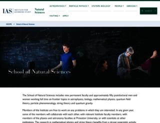 sns.ias.edu screenshot