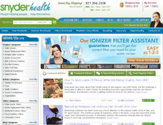 snyderhealth.com screenshot