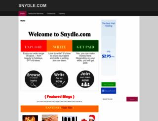 snydle.com screenshot
