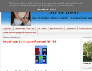 so-is-des.de screenshot