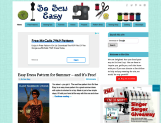 so-sew-easy.com screenshot
