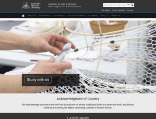 soa.anu.edu.au screenshot