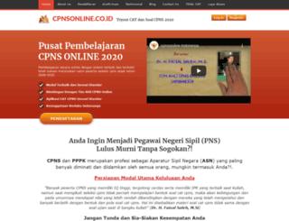 soal.cpnsonline.com screenshot