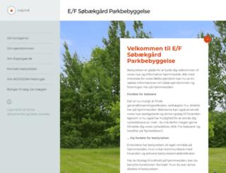 sobaekgaardparkbebyggelse.dk screenshot