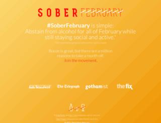 soberfebruary.com screenshot