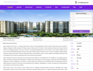 sobhagatewayofdreams.bangalorer.com screenshot