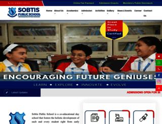 sobtispublicschool.com screenshot