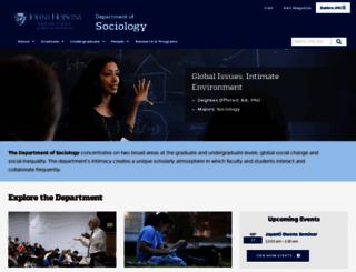 soc.jhu.edu screenshot