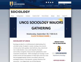 soc.uncg.edu screenshot