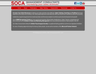 soca.co.uk screenshot