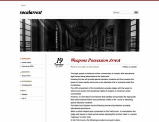 socalarrest.wordpress.com screenshot