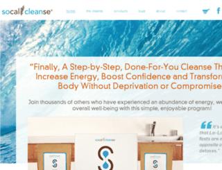 socalcleanse.com screenshot
