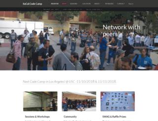 socalcodecamp.com screenshot